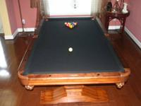 8' Andrew Gille/Vitalie Pool Table that converts to