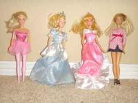 8 Barbie Dolls Great Condion! Each comes with the