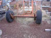 8 bolt heavy trailer axel with springs and 12x16.5