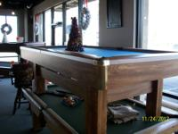 I have an 8' modern style closeout Brunswick pool table