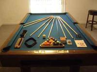 We have a Brunswick Buckingham billiards table for sale