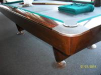 I have an 8' Brunswick Gold Crown 3 swimming pool table