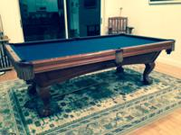 Excellent condition Greenbriar Mahogany 8' Pool Table