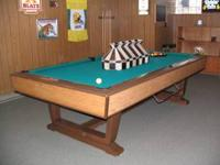 Brunswick VIP Home Billiard Table. Model: GA. Serial