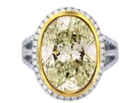 Stylen8 Carat Oval Cut Light Fancy Yellow Diamond