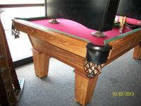 I have an 8' Olhausen pool table for sale. The table is