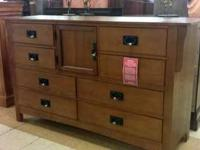 8 Drawer Dresser with beveled chamber drawer fronts and