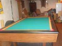 Here's a great 8 foot pool table that is made from 3