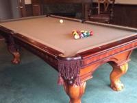"American Heritage 1"" slate (three) Billiard Table with"