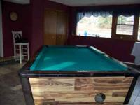 8 foot Dynamo one piece slate pool table for sale,