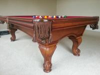 AMERICAN HERITAGE 8 FOOT POOL TABLE Beautiful maple