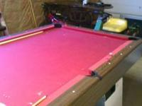 8 ft Pool Table. Slate in good shape. This is a sears