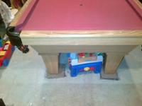 8 ft Connelly Billiards table. 3 piece slate, oak