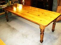 This extraordinary custom built pine table is 8 feet