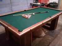 i have a 8 ft home made pool table up for sell for a 80