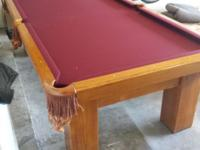 New felt Sticks and balls included Solid wood table For