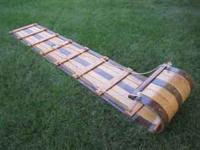 "Vintage ""Adirondack"" 8 foot Wooden Toboggan (sled) for"