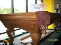 I have a solid Oak Golden West pool table for sale. The