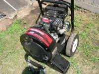 8 hp leaf blower yard machine runs good. purchased a