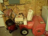 I have an older 8 HP snow blower for sale. in great