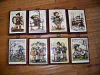 I have for sale a set of 8 Hummel original prints.