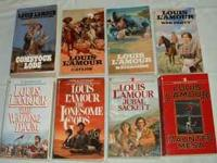 8 Louis L'amour books. All are paperback and in great