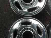 Selling 4 OEM aluminum 8 lug rims from a 2001 Ram 2500.