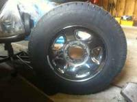 I have 4 factory chrome Dodge Ram wheels and tires for