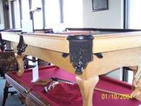 I have an 8' oak Murray pool table for sale. It has a