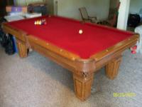 I have an 8' oak Fischer Duke pool table by C.L.