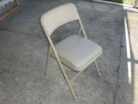 8 vinyl padded metal folding chairs. Cosco brand, very