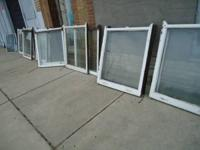 Up for sale are 8 pair of antique vintage windows and