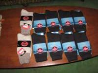 8 pair Wigwam 40 Degrees Below, 2 Pair Great Feet Socks