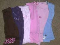 I have 8 pairs of infants girls pants. Due to the