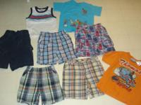 Here are 3 shirts and 5 pair of shorts. Brands range