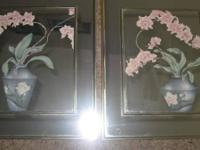 "8 For $10   Homco ""L Chambers"" Heart Shaped Flowers"