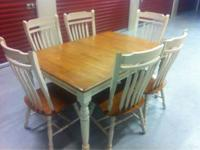 Selling dining table, solid oak with extender. six