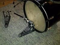 8 piece Black Tama Swing Star drum set. Set includes: