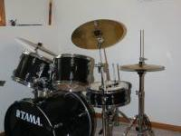 Tama Brand, Appx. 5 Years Old, 3 Cymbals, 3 toms, Bass,