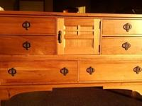 one 6 Drawer and 1 Door Dresser; attached mirror for