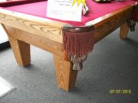 I have an 8' oak 3 piece slate pool table in a Classic