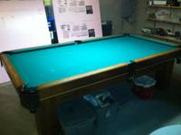 8' Gandy swimming pool table. 3 piece, 3/4 inch slate.
