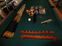 Like new 8' Kasson Voyager oiled cherry pool table; 1""