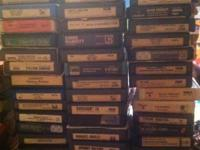 50 old 8 track tapes: frank Sinatra, pink floyd, the