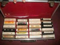 I HAVE A SET OF 8 TRACK TAPES WITH CARRING CASE 8