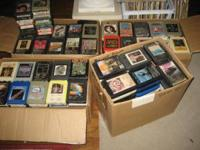 Up for sale 417 Mixed Boxes of 8 tracks all are in good