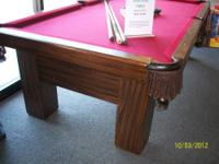 I have an 8' used Delmo pool table. The table is 3