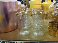 8 VINTAGE ANCHOR HOCKING GLASSES.  $10 These vintage