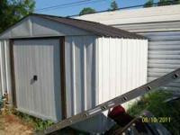 8 x 10 new metal shed w/ wood floor , has nice wood