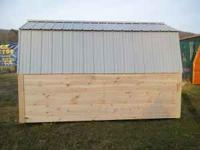 FOR SALE NEW SOLID PINE STORAGE SHED WITH METAL